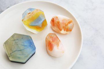 キラキラ!宝石石鹸のラメアレンジ